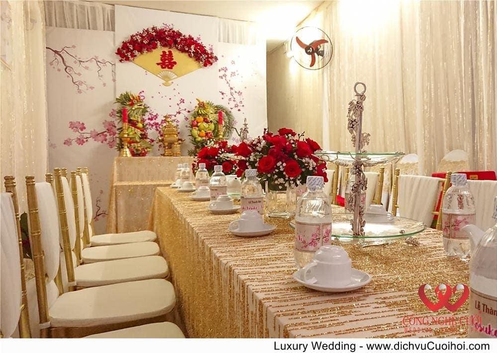 trang trí gia tiên - Luxury Wedding
