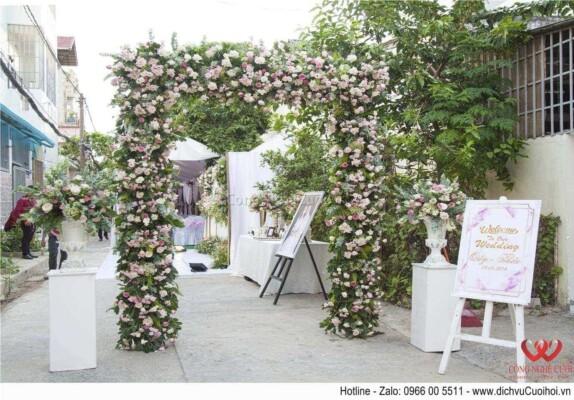 Cổng hoa đám cưới, trang trí tiệc cưới