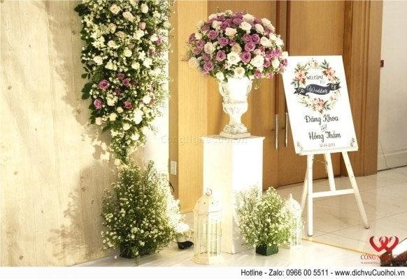 Công Nghệ Cưới - Trang trí tiệc cưới trọn gói theo yêu cầu riêng