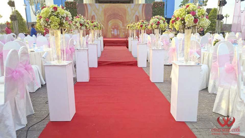 Trang trí tiệc cưới tại Cà Mau