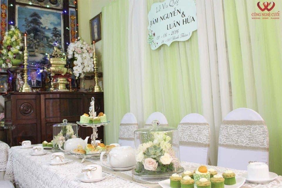 Trang trí nhà đám cưới trọn gói từ công ty Công Nghệ Cưới