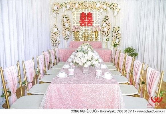 Trang trí lễ gia tiên trang trí nhà đám cưới