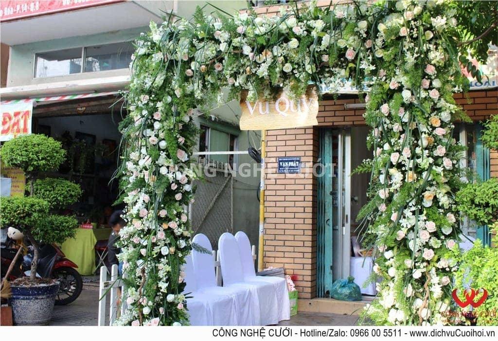 Trang trí lễ gia tiên đám cưới rustic đẹp