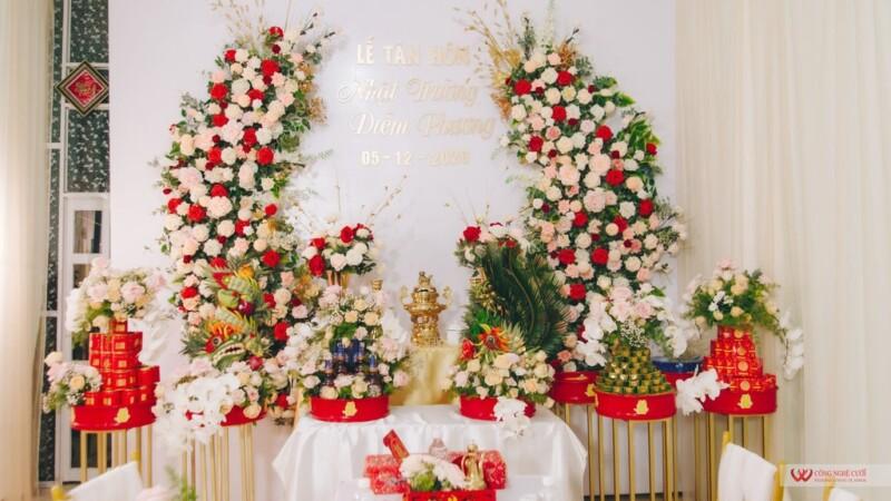 Banner mâm quả cưới hỏi